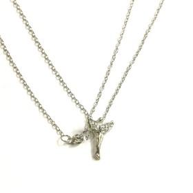Náhrdelník anděl - stříbrný odstín