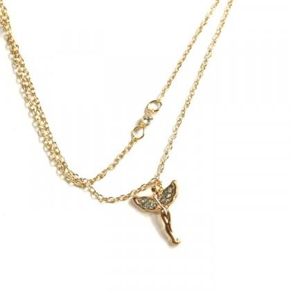 Náhrdelník anděl - zlatý odstín