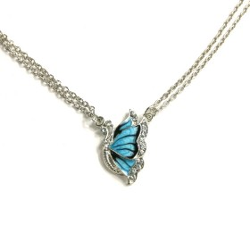 Náhrdelník motýl s modrými křídly