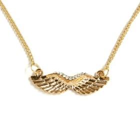Náhrdelník andělská křídla - zlatý odstín