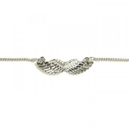 Náhrdelník andělská křídla - stříbrný odstín