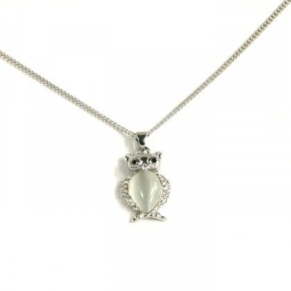 Náhrdelník sova - stříbrný