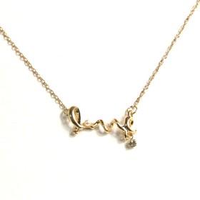 Náhrdelník LOVE - zlatý