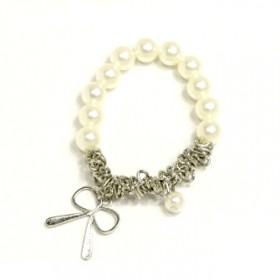 Náramek perly s mašličkou