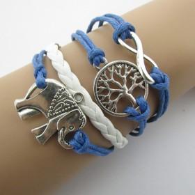 Náramek modrý se slonem