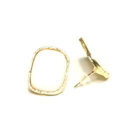 Náušnice obdelníkové - bílé