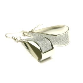 Náušnice ve tvaru kapek - stříbrné