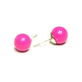 Náušnice kuličky - fialové