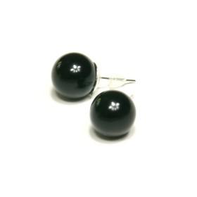 Náušnice kuličky - černé