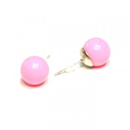 Náušnice kuličky - růžové