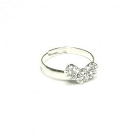 Prsten srdíčko s kamínky