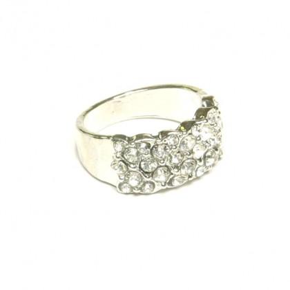 Prsten s kamínky - stříbrný