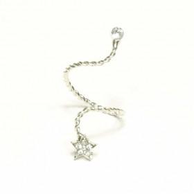 Prsten s hvězdou - stříbrný