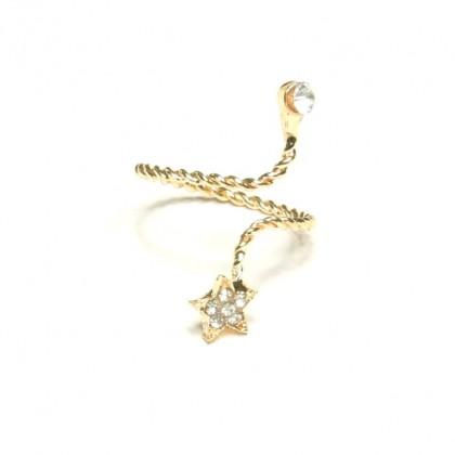 Prsten s hvězdou - zlatý