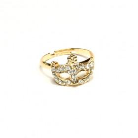 Prsten maska - rose gold