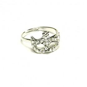 Prsten maska - stříbrný
