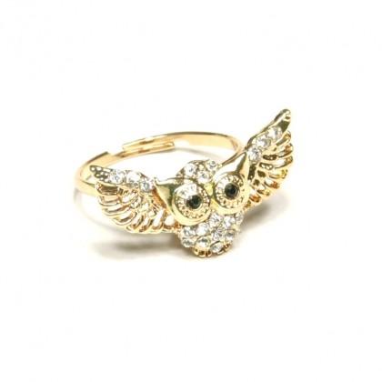 Prsten sova s kamínky
