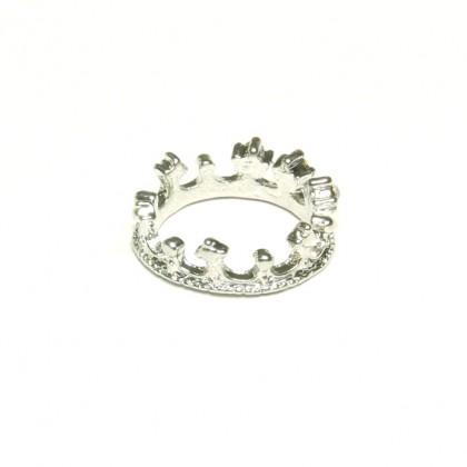 Prsten koruna - stříbrný