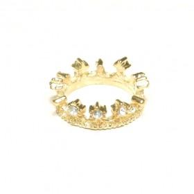Prsten koruna - zlatý