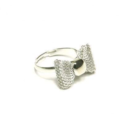 Prsten mašlička - stříbrná