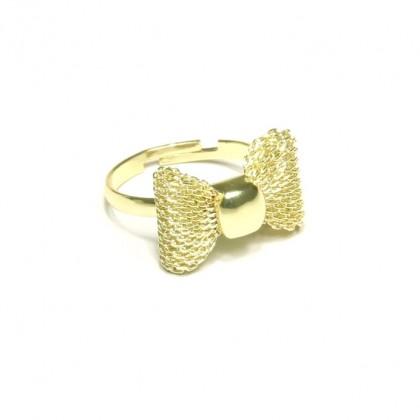 Prsten mašlička - zlatá