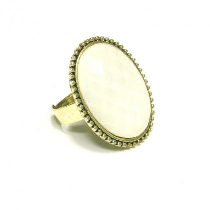 Prsten oválný - bílý