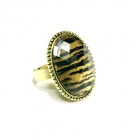 Prsten oválný - zvířecí vzor