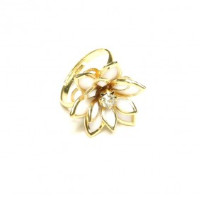 Prsten lotos - zlatý