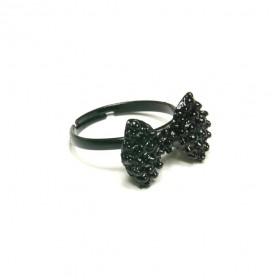 Prsten černá mašlička