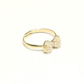 Prsten mašlička s perličkami