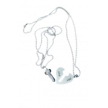 Dvojice náhrdelníků I love you